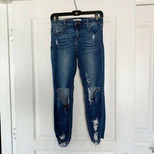 Cello Womens Jeans Sz 7 Ultra Distressed Dark Wash